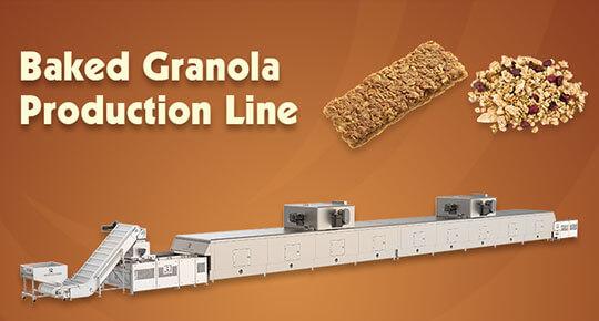 На новой производственной линии RBS производству гранолы используются новейшие технологии